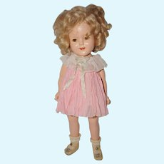 "1930's Tagged Shirley Temple Baby Take A Bow Dress for 15"" Doll"