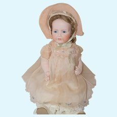 "1940's - 50's Embroidered Pink Dress, Bonnet, Slip for 20"" - 22"" Dy-Dee, Tiny Tears, Antique Doll"