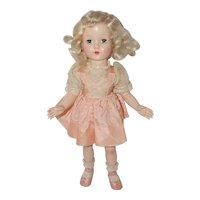 "1950's Effanbee 16"" Tint Hair Honey Doll - all orig."
