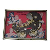 1930's Quintuplet Skill Game - Place the Quintuplets in the Carriage