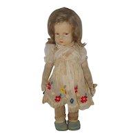 "1930's all original 16"" Lenci Doll - marked left foot"