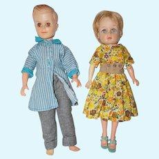 1950's Uneeda Bob and Suzette Dolls