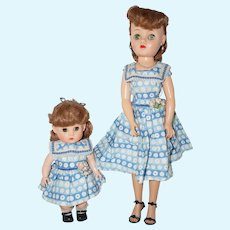 1950's Mother and Daughter Dolls - all original