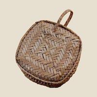 Amazing Tiny Sweetgrass or Pine Needle Basket