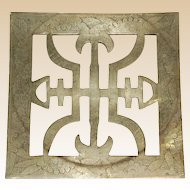 Vintage Chinese Decorative Brass Trivet