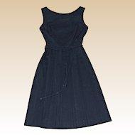 Wonderful Pleated 1960's Little Black Dress