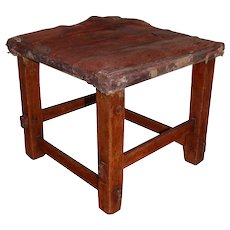 Arts and Crafts Hand Crafted Foot Stool Original
