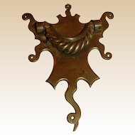 Large Antique Brass Door Knocker