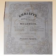 1850 Sheet Music Folio Black Americana Minstrel Songs