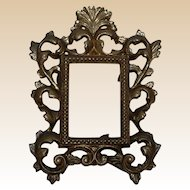 Antique Ornate Brass Table Picture Frame