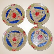 Vintage Japanese Painted Doll Picnic Plates with Case