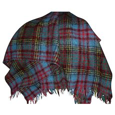 Beautiful Scottish Mohair and Wool Blanket Lap Throw
