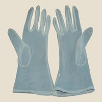 1950's Sheer White Summer Party Gloves