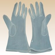 1950's Sheer White Summer Party Gloves