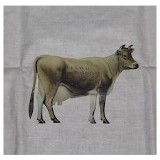 De Laval Cream Separators Jersey Cow Tin Litho Postcard