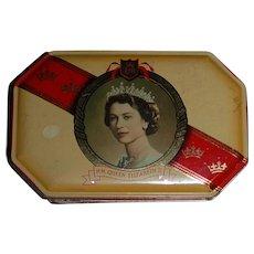 Queen Elizabeth II Coronation Harry Vincent Toffee Souvenir Tin