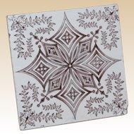 Brown Transferware English Tile