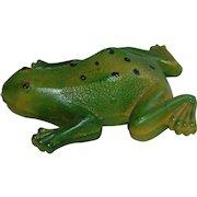 Vintage CV USA Green Frog Toy