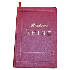 1911 Baedeker's Rhine Guide Book