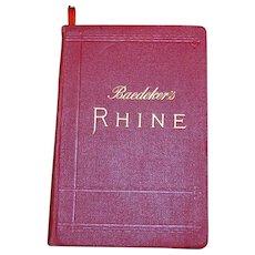 1911 Baedeker's Rhine Guide Book