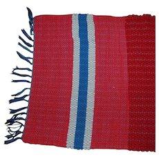 Vintage Amish Rag Area Rug