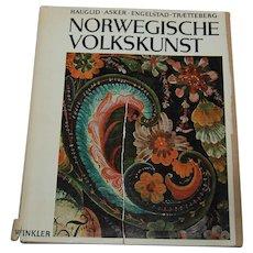 Norwegian Folk Art Craft Book Norwegische Volkskunst Art Folkart antique guide