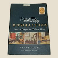 Wiliamsburg Reproductions Vintage catalog 1968 Furniture Lighting Antique reference guide