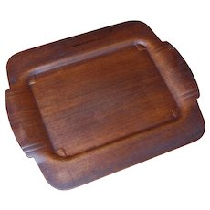 Mid Century Modern Camfield Pressed Mahogany Serving Tray
