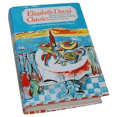 1982 Elizabeth David Classics Cookbook Mediterranean, French and Summer Cooking
