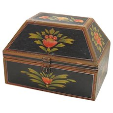 Folk Painted Wooden Box - Red Tag Sale Item