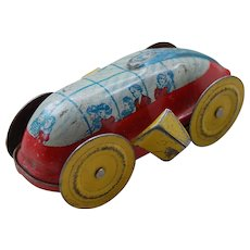 Space Age Tin Litho Toy Car or Bus