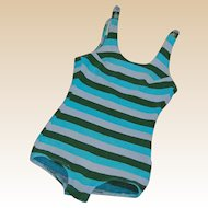 Vintage 1960's Striped Knit Bathing Suit