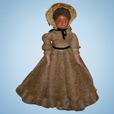 """17"""" Antique Doll wax over composition"""