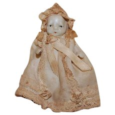"""Japan Bisque 3"""" Jointed Baby Doll"""
