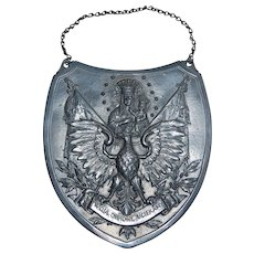 Polish Pewter Religious Virgin Mary Wall plaque