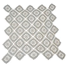 Hand Crocheted Table Doily Unusual Shape