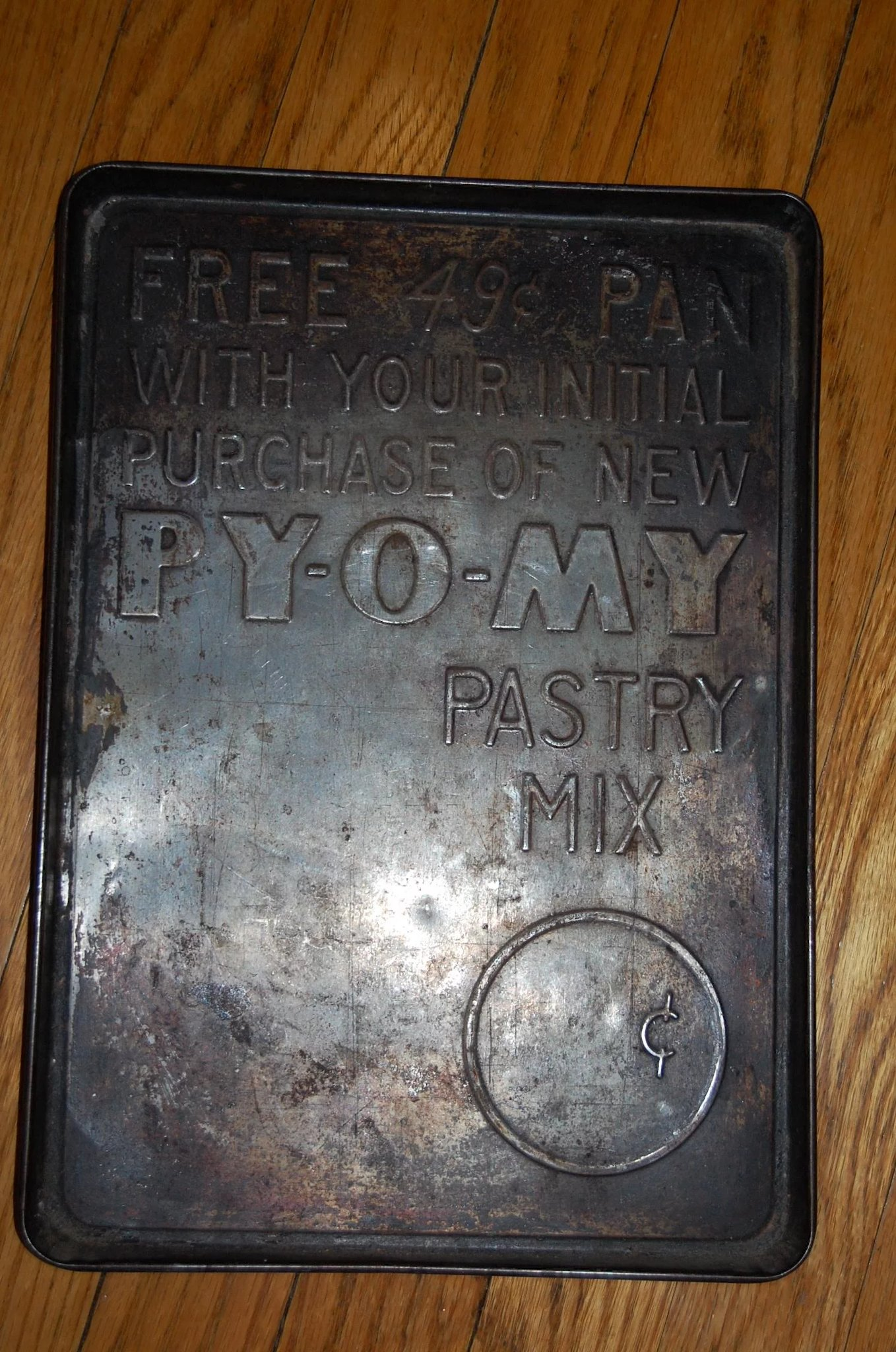 Vintage Py O My Pastry Mix Advertising Baking Pan Starr