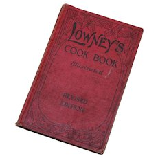 1921 Lowney's Cook Book Illustrated Lithographs Maria Willett Howard