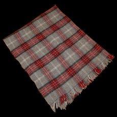 Edgar Of Scotland 100% Pure Wool Plaid Lap Throw Blanket Vintage - Red Tag Sale Item