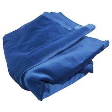 Vintage Blue Velvet Fabric