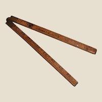 "Vintage Stanley 65 1/2"" Ruler 36"" Tri-fold Brass Fittings"