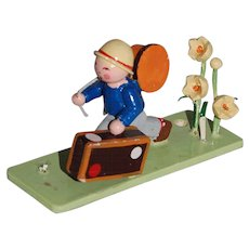 Steinbach Little Traveler Flower Boy Figurine