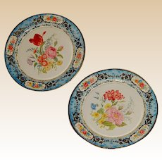 2 Vintage Daher Decorated Ware Tin Plates Holland