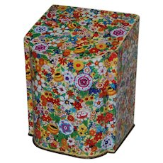 English Chintz Tea or Biscuit Tin Flip Up Lid