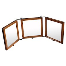 Antique Tri-fold Vanity Travel Mirror