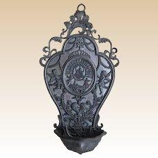 Souvenir European Pot Metal Holy Water Font