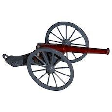 Miniature Cast Field War Cannon Replica with Adjustable Barrel