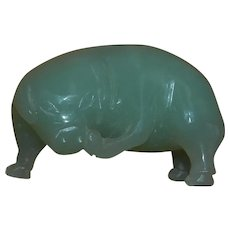 Funny Jade Pig Scratching Chin Miniature Figure
