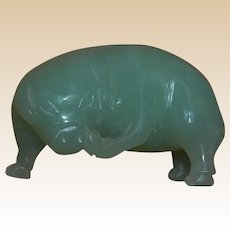 Funny Jade Pig Scratching Chin Miniature Figure