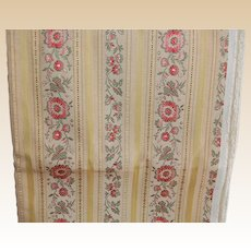 Vintage Ribbon Jacquard Drapery Upholstery Fabric 2 yards